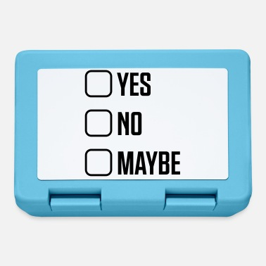 Poll Yes No Maybe - Lunchbox