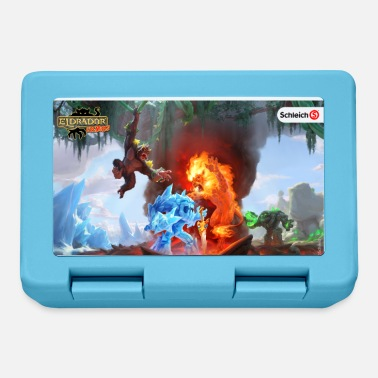 Schleich Eldrador Creatures ice world and lava world - Lunch box