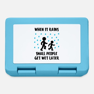 Wet Rain Raindrop Wet Wet Funny Saying Fun - Lunchbox