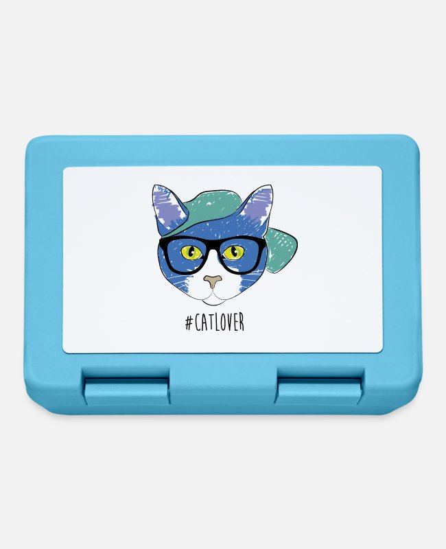Animal Liberation Lunchboxes - #CatLover - Lunchbox sapphire blue