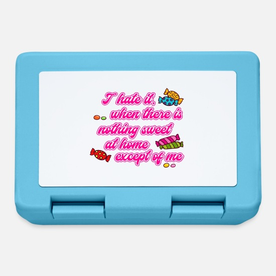Proverbi Lunch boxes - Dolci Dolci Zucchero Funny Sayings Umoristici - Lunch box blu zaffiro