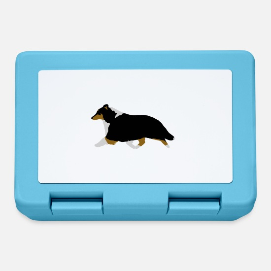 Tricolour Lunchboxes - Shetland Sheepdog Trotting (tricolour) - Lunchbox sapphire blue