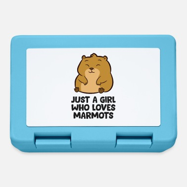 Marmot Marmot Mom Gift Just a Girl Who Loves Marmots - Lunchbox