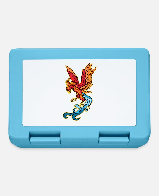 Easter Lunchboxes - Phoenix Firebird Mythical Creature Fantasy Motif - Lunchbox sapphire blue