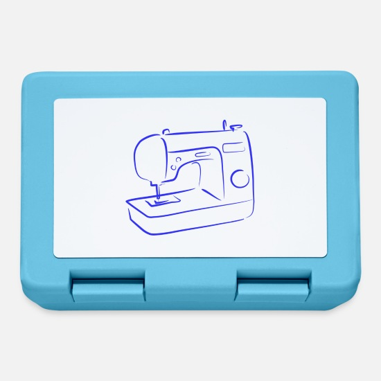 Crafts Lunchboxes - sewing machine - Lunchbox sapphire blue