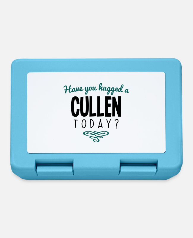 Today Lunchboxes - have you hugged a cullen name today - Lunchbox sapphire blue