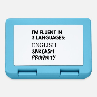 Profanity Fluent In 3 Languages English Sarcasm Profanity - Lunchbox