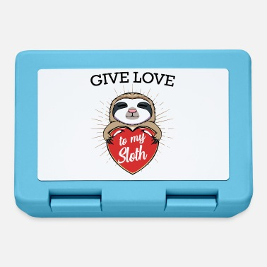 Lazy Give Love To My Sloth Cute Sloth Gift - Lunchbox