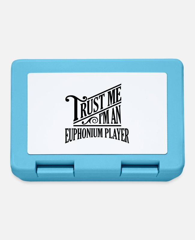 Player Lunchboxes - Trust me I'm an euphonium player pro desi - Lunchbox sapphire blue