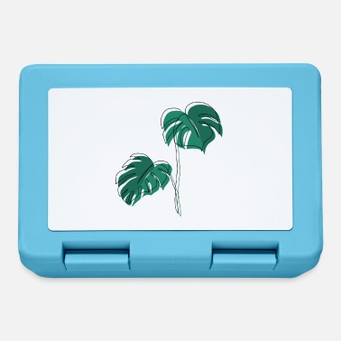 Minimal Monstera, Lineart, pianta, Pflanze, Foglia, Minimal - Lunch box