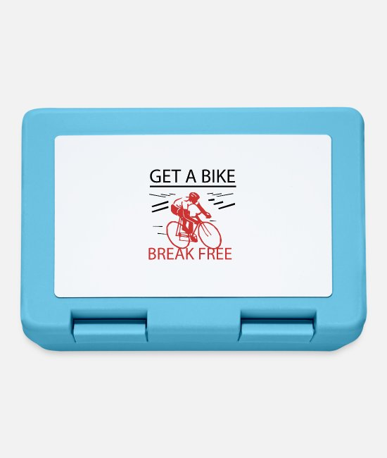 Road Bike Lunchboxes - Get A Bike - Break Free - Lunchbox sapphire blue