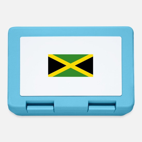 Central America Lunchboxes - National Flag of Jamaica - Lunchbox sapphire blue