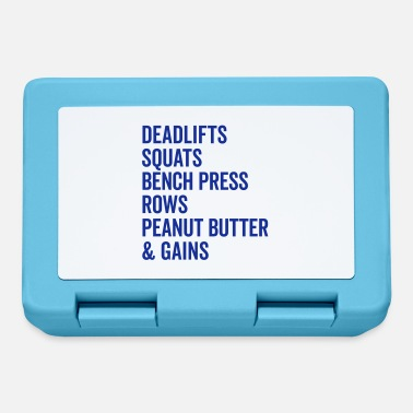 Bench Press Peanut Butter & Gains Gym Quote - Lunchbox