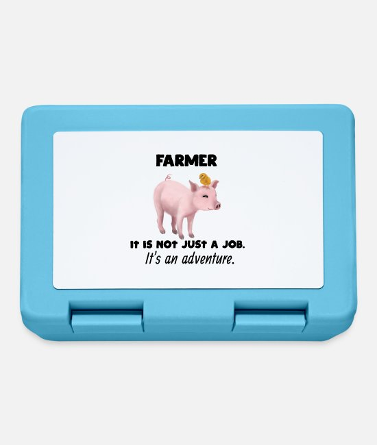 Birthday Lunchboxes - Proud Farmer Farmer - Adventure / Adventure - Lunchbox sapphire blue