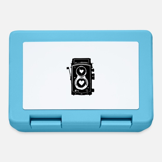 Foto Lunch boxes - Fotocamera classica full frame analogo hipster - Lunch box blu zaffiro