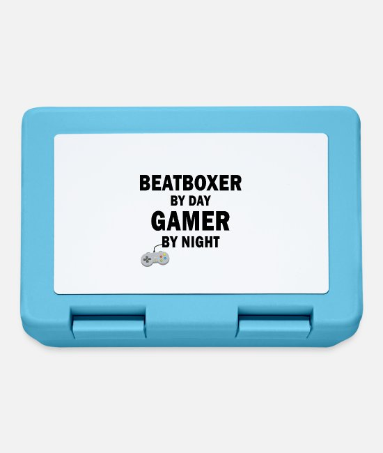 Rap Lunchboxes - Beatboxer by day, gamers by night - Lunchbox sapphire blue