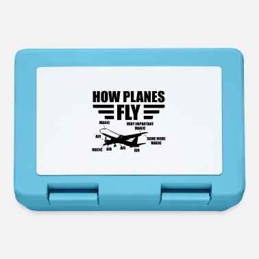 Flight How planes fly pilot aviation gift airplane - Lunchbox