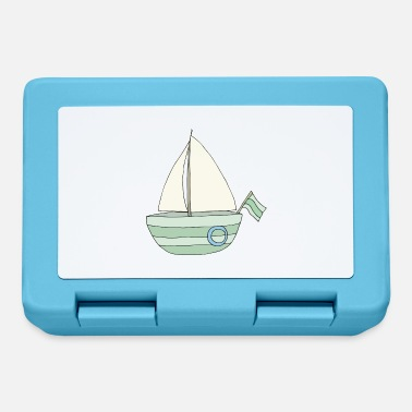 sailboat turquoise - Lunchbox
