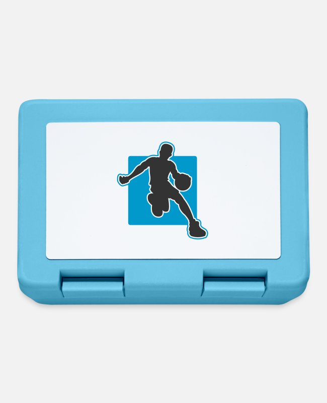 Basketball Design Lunchboxes - basketballer_q - Lunchbox sapphire blue