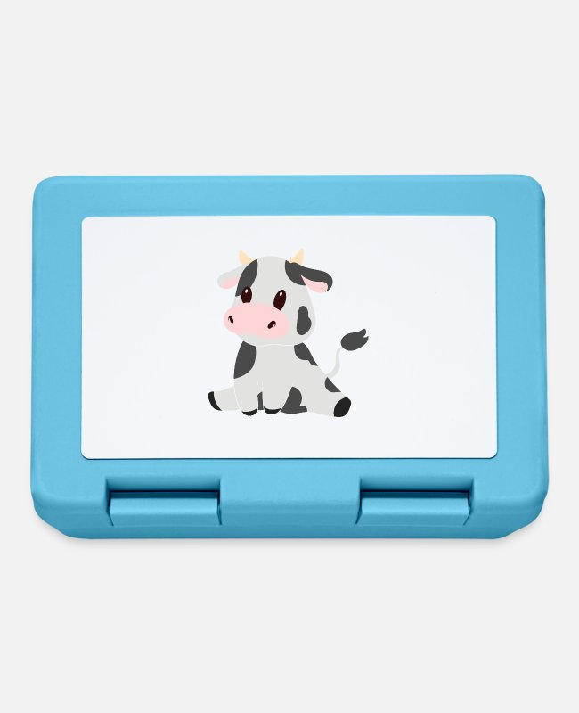Kindergarten Lunchboxes - Sweet cow - Lunchbox sapphire blue