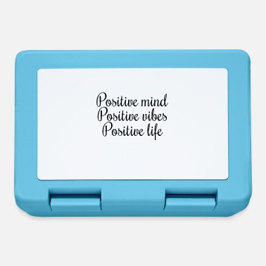 Positive mind Positive vibes Positive life - Lunchbox