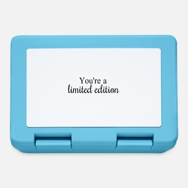 You're a limited edition - Lunchbox