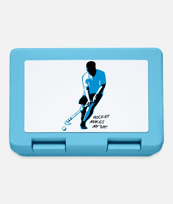 Floor Hockey Lunchboxes - Hockey Player - Lunchbox sapphire blue