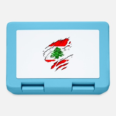 Country Flag Football Sport And Arab Art Jesus country flag lebanon - Lunchbox