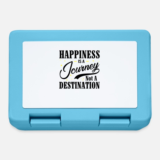 Motivation Lunchboxes - Happiness Is A Journey Not A Destination bw - Lunchbox sapphire blue