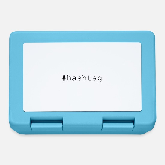 Calculator Lunchboxes - Internet hashtag - Lunchbox sapphire blue