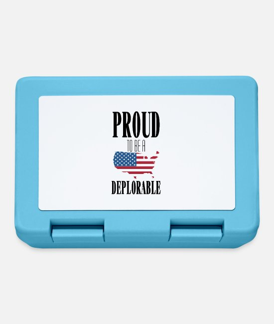 Usa Lunchboxes - Proud to be unfortunate - Lunchbox sapphire blue