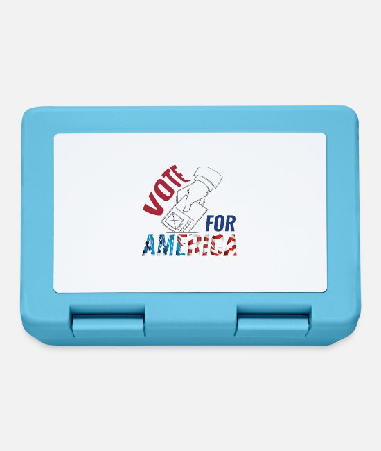 Usa Lunchboxes - Vote for America - Lunchbox sapphire blue