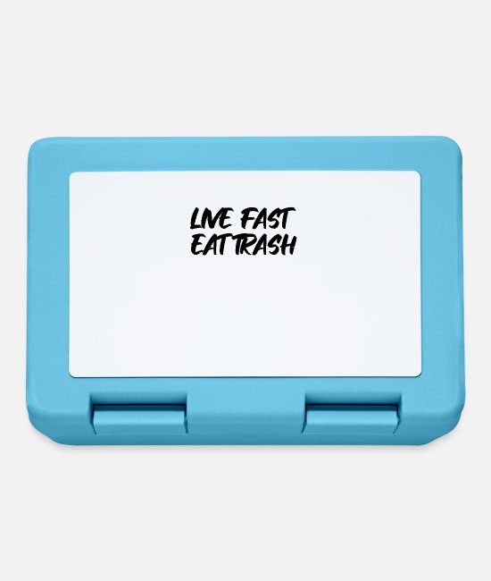 Rubbish Lunchboxes - Live Fast Eat Trash - Lunchbox sapphire blue
