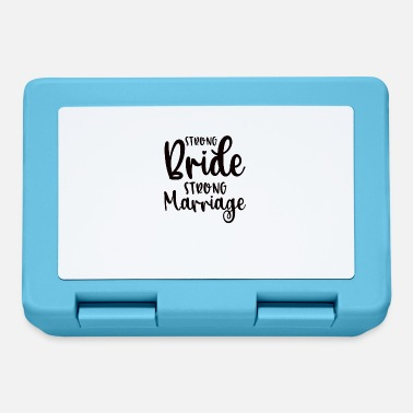 Wedding Couple Strong Bride Strong Marriage - Lunchbox
