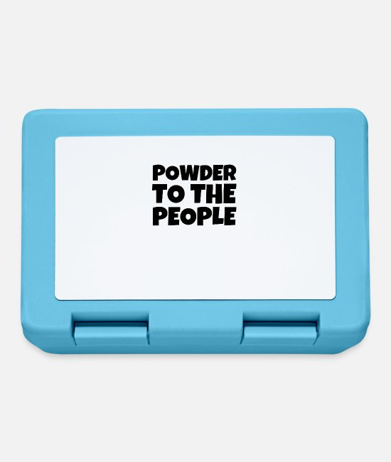 Saying Lunchboxes - Powder To The People - Lunchbox sapphire blue