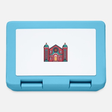 Judaism A Red Color Judaism Church. - Lunchbox