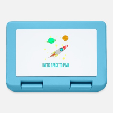 I Need Space To Play, Funny, For Kids, Gift idea, - Lunchbox