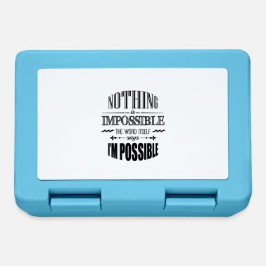 Nothing Is Impossible - Lunchbox
