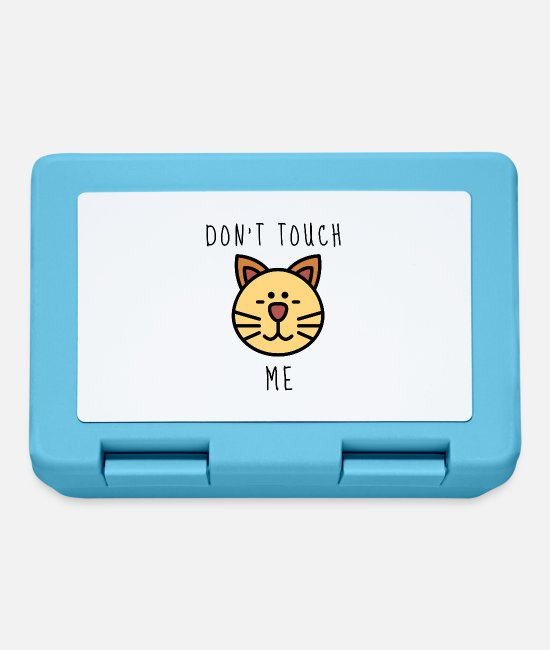 Funny Pictures Lunchboxes - Don't me, cat, donut, gift, gift idea - Lunchbox sapphire blue