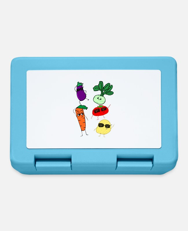 Bless You Lunchboxes - vegetables - Lunchbox sapphire blue
