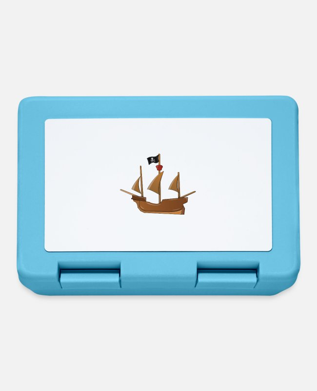 Water Lunchboxes - pirate ship - Lunchbox sapphire blue