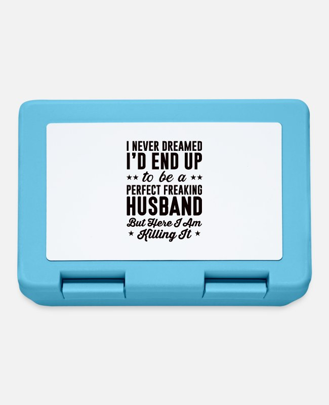 Husband Lunchboxes - husband - Lunchbox sapphire blue