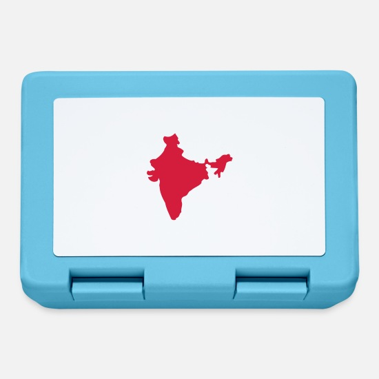 Polo Lunchboxes - india map - Lunchbox sapphire blue