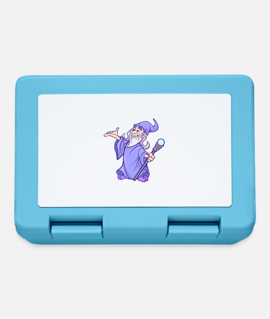 Sorcerer Lunchboxes - Wizard Wizard Sorcerer Magic Magic Witch Magic - Lunchbox sapphire blue