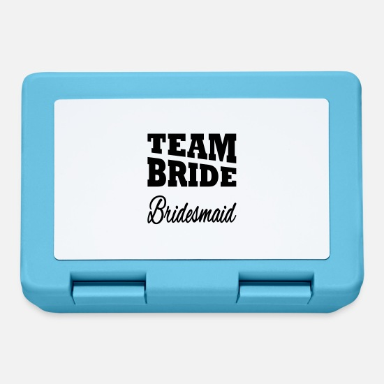 Bride Lunchboxes - Team Bride Bridesmaid - Lunchbox sapphire blue