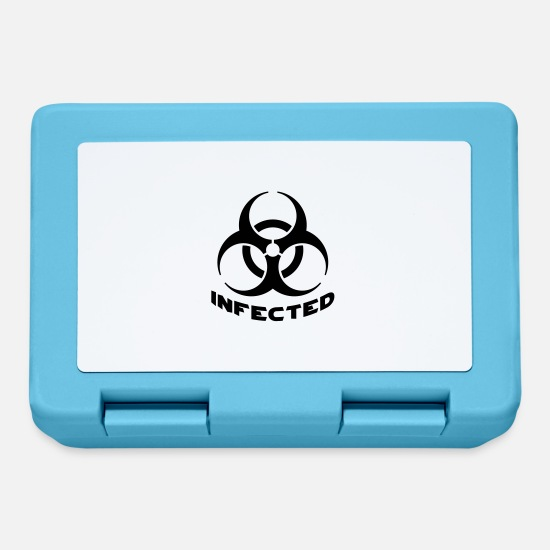 Toxic Lunchboxes - Infected Biohazard - Lunchbox sapphire blue