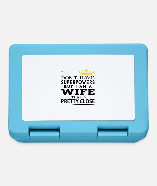 Wife Lunchboxes - SUPER WIFE! - Lunchbox sapphire blue