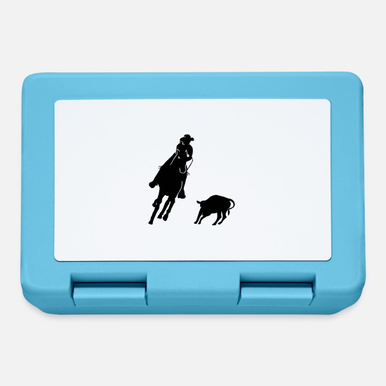 Horse Lunchboxes - Equestrian Western Riding - Cutting - Lunchbox sapphire blue