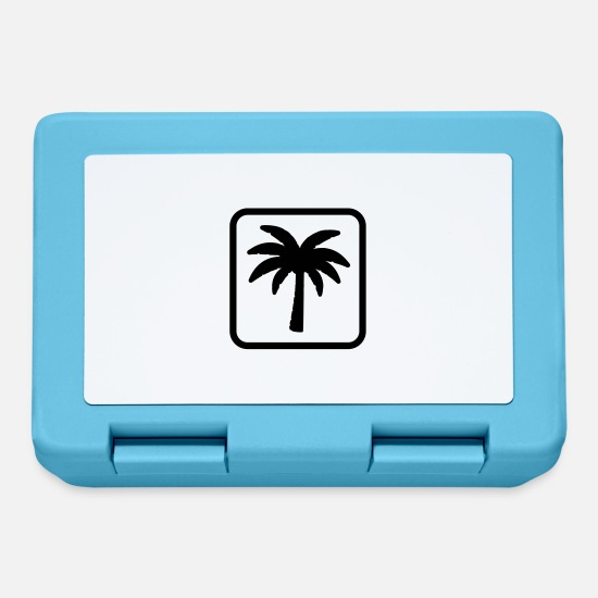 Icon Brotdosen - palm icon - Brotdose Saphirblau