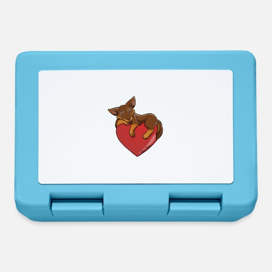 Kelpies Lunchboxes - Kelpie Chocolate Heart Fire - Lunchbox sapphire blue